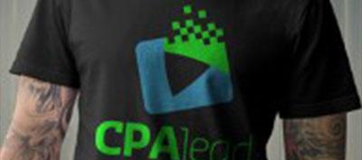 CPAlead T-shirt model